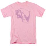 Pink Floyd Pink Animal Adult 18/1 T-Shirt Pink
