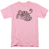 Pink Floyd Pink Logo Adult 18/1 T-Shirt Pink
