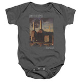 Pink Floyd Faded Animals Baby Onesie T-Shirt Charcoal