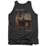 Pink Floyd Faded Animals Adult Tank Top T-Shirt Charcoal