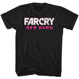 Far Cry New Dawn White Logo Black Adult T-Shirt