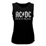 AC/DC Back In Black 2 Black Women's Muscle Tank Top T-Shirt