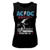 AC/DC Tokyo '81 Black Women's Muscle Tank Top T-Shirt
