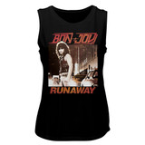 Bon Jovi Runaway Black Women's Muscle Tank Top T-Shirt
