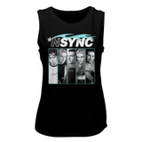 Nsync Blue Flame Black Women's Muscle Tank Top T-Shirt