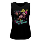 Poison Bright Action Black Women's Muscle Tank Top T-Shirt