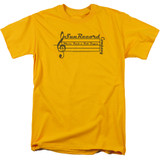 Sun Records Music Staff S/S Adult 18/1 T-Shirt Gold