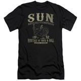 Sun Records Rockabilly Bird Premium Canvas Adult Slim Fit 30/1 T-Shirt Black