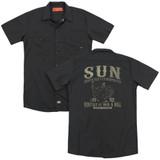 Sun Records Rockabilly Bird (Back Print) Adult Work Shirt Black