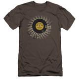 Sun Records Established Premium Canvas Adult Slim Fit 30/1 T-Shirt Charcoal