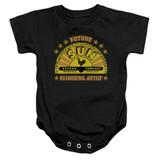 Sun Records Future Recording Artist Infant Baby Snapsuit Romper Black