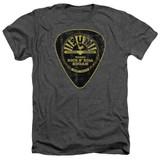 Sun Records Guitar Pick Adult Heather Charcoal T-Shirt