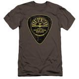 Sun Records Guitar Pick Premium Canvas Adult Slim Fit 30/1 T-Shirt Charcoal