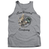 Sun Records Rockin Rooster Logo Adult Tank Top Athletic Heather