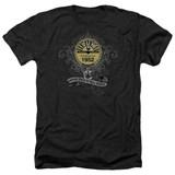 Sun Records Rockin Scrolls Adult Heather Black T-Shirt