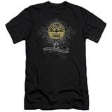 Sun Records Rockin Scrolls Premium Canvas Adult Slim Fit 30/1 T-Shirt Black