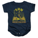 Sun Records Rooster Infant Baby Snapsuit Romper Navy