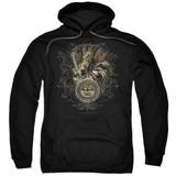 Sun Records Scroll Around Rooster Adult Pullover Hoodie Sweatshirt Black