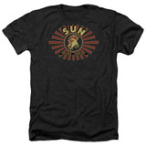 Sun Records Sun Ray Rooster Adult Heather Black T-Shirt