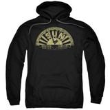 Sun Records Tattered Logo Adult Pullover Hoodie Sweatshirt Black