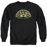 Sun Records Tattered Logo Adult Crewneck Sweatshirt Black