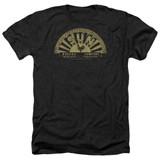 Sun Records Tattered Logo Adult Heather Black T-Shirt
