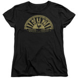 Sun Records Tattered Logo S/S Women's T-Shirt Black