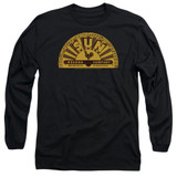Sun Records Traditional Logo Long Sleeve Adult 18/1 T-Shirt Black