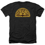Sun Records Traditional Logo Adult Heather Black T-Shirt