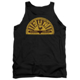 Sun Records Traditional Logo Adult Tank Top Black