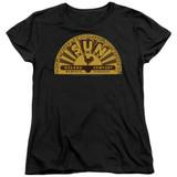Sun Records Traditional Logo S/S Women's T-Shirt Black
