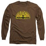 Sun Records Vintage Logo Long Sleeve Adult 18/1 T-Shirt Coffee