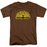 Sun Records Vintage Logo S/S Adult 18/1 T-Shirt Coffee