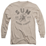Sun Records Vintage Logo Long Sleeve Adult 18/1 T-Shirt Sand