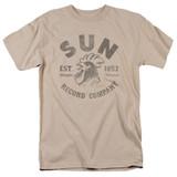 Sun Records Vintage Logo S/S Adult 18/1 T-Shirt Sand