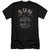 Sun Records Where Rock Began S/S Adult 30/1 T-Shirt Black