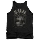 Sun Records Where Rock Began Adult Tank Top Black