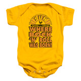 Sun Records Where Rock Was Born Infant Baby Snapsuit Romper Gold