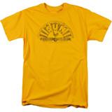 Sun Records Worn Logo S/S Adult 18/1 T-Shirt Gold