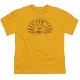 Sun Records Worn Logo S/S Youth 18/1 T-Shirt Gold