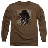 Stevie Ray Vaughan In Step Long Sleeve Adult 18/1 T-Shirt Coffee