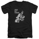 Stevie Ray Vaughan Live Alive S/S Adult V Neck 30/1 T-Shirt Black