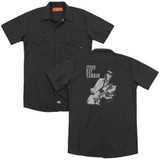 Stevie Ray Vaughan Live Alive (Back Print) Adult Work Shirt Black