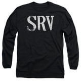 Stevie Ray Vaughan Srv Long Sleeve Adult 18/1 T-Shirt Black