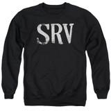Stevie Ray Vaughan Srv Adult Crewneck Sweatshirt Black