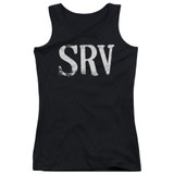 Stevie Ray Vaughan Srv Junior Women's Tank Top Black