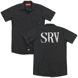 Stevie Ray Vaughan Srv (Back Print) Adult Work Shirt Black