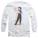 Stevie Ray Vaughan Standing Tall Long Sleeve Adult 18/1 T-Shirt White