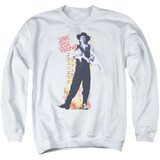 Stevie Ray Vaughan Standing Tall Adult Crewneck Sweatshirt White