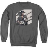 Stevie Ray Vaughan Texas Flood Adult Crewneck Sweatshirt Charcoal